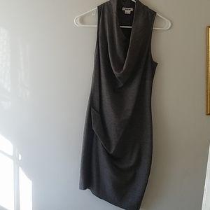 Helmut Lang sonar draped wool dress
